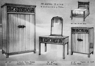 Bedroom Suite 4232 (Drawing); Shapland and Petter HLF; 1