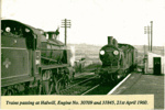 Trains Passing at Halwill Junction; 21st April; 6-6952