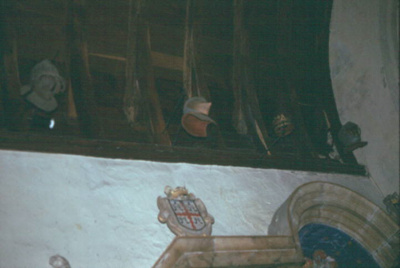 Roofing Trusses above the tomb of the Earl of Bath at Tawstock Church; Thomas E. Spencer; 2131