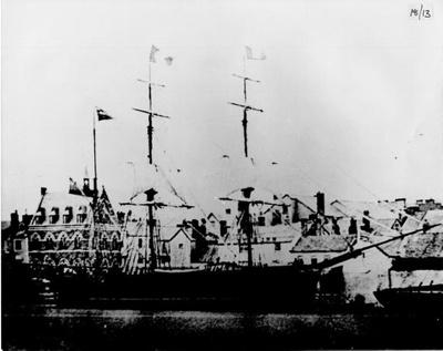 Ship Moored at Barnstaple Quay; 185