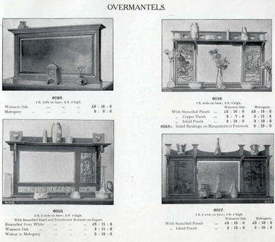 Overmantels; Shapland and Petter HLF; 1314