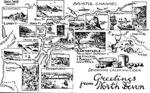North Devon - map from postcard; 1137