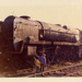 West Country class locomotive Braunton in scrapyard; 40-10629