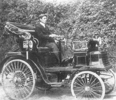 Bideford's first car, 1902; Photographer: Unknown; 1902; 262