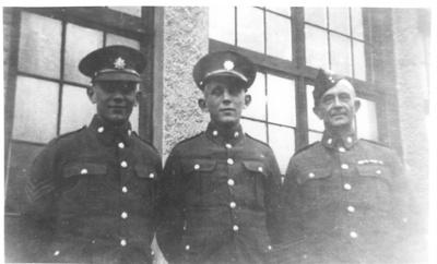 Herbert and Reg. Dovell and their father Lewis 1939; Unknown; 1939; 23