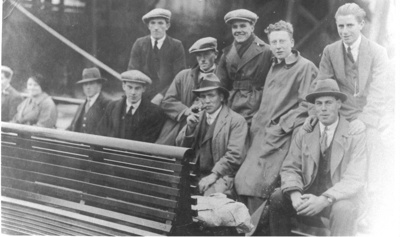 Local Men on a Paddle Steamer trip; Unknown; 1930; 16
