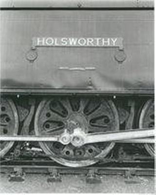 "Steam Locomotive 34097 ""Holsworthy"" nameplate on engine; 1955-1961; 24-1191"