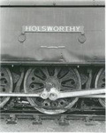 "Steam Locomotive 34097 ""Holsworthy"" nameplate on engine; 1955-1961; 24-1191"