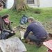 Marland School building a traditional cob oven with Andy Branston - 01; February 2011; 87-19828