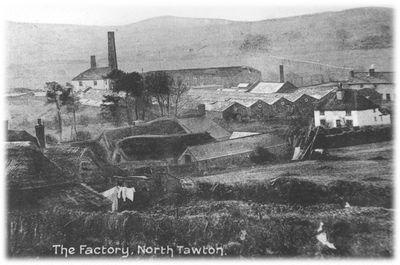 The wool factory, North Tawton, with Dartmoor in the distance; 404