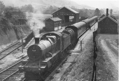 Steam locomotive on Devon Railway; 450