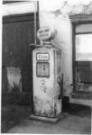 Petrol pump at Bissets garage.; 5-607