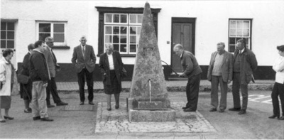 The Parish Council gathered around the pump in 1996; 1996; 5-657