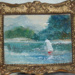 Doll House miniature oil painting 4cm x 3 cm; ART/NZ 2