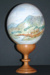 Painting of Te Mata Peak in Hawke's Bay on an ostrich egg.; Unknown; ART/NZ 1