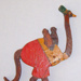 """Oscar the Ostrich"" - Fretsaw cut ostrich plywood toy ; 1930s; BT/NZ 1"
