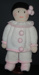 Knitted doll - Jean Greenhowe Pierrot; K.T.D.W/A 14
