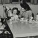 Children playing with cups and saucers in playgroup; 1950; LMA_4314_07_003_0003