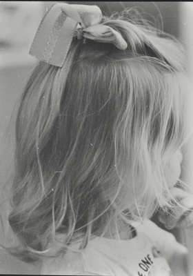 Back of child's head, playgroup; c.1985; LMA_4314_07_003_0005