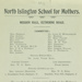 Opening appeal of North Islington School for Mothers, 1913; 01/01/1913; LMA_4314_04_001