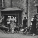 Mothers and babies with prams outside pram shelter; c. 1925; LMA_4314_07_001_0025