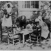 Children eating outside, with nurses; c.1925; LMA_4314_07_001_0011