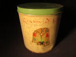 Decorative Floral Tin Canister (Small); 014.0193.0001