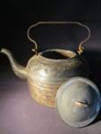 Tin Tea Kettle with Enamel Lid; 014.0173.0001