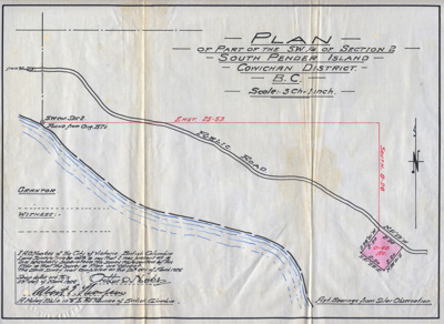 Survey Plan - Jennens; Notary public, Province of BC; March 20, 1926; 017.0001.0001.0001