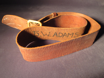 B. W. Adams Leather Belt; 014.0125.0001
