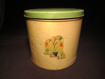 Decorative Floral Tin Canister (Large); 014.0192.0001