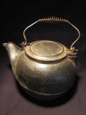 Black Cast Iron Pot; 014.0168.0001