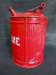 Red Galvanized Gasoline Can; 014.0023.0001