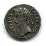 Denarius, Roman; 19-18 BC; Spain; AR1-3