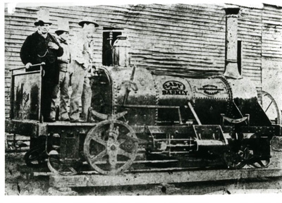 "Photo Copy: ""Lady Barkly Loco Built By Hunt & Opie 1860? Ballarat. Photo In Hunt & Opieyard."" ""Lady Barkly"" ""Hunt & Opie Victoria Ironworkers Ballarat.""; 92.0222"