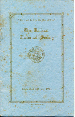 The Ballarat Historical Society; 1946-1947; 05.1751
