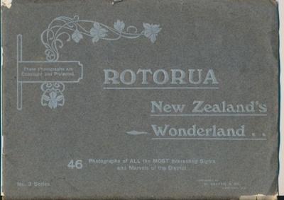 "Souvenir Booklet, Photographic booklet of ""Rotorua"", 32 pages..."