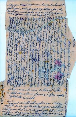 Letter written by Joseph Lugg.; Joe Lugg; 1915; 2012.0377