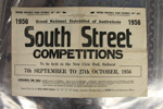 Program, South Street Competitions 7 September - 27 October 1956; 1956; D