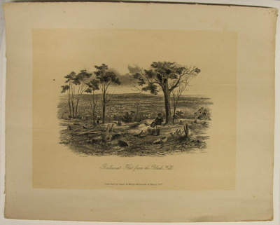 Ballarat Flat, from the Black Hill; Sands & Kenny; S.T. Gill; 1857; 02.0663