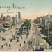"Postcard, Ballarat. Sturt Street Ballarat, looking west from Grenville Street.  ""A Merry Xmas"".; 2014.2104"