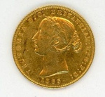 Coin, 1/2 Sovereign, 1866; Royal Australian Mint; 1866; 76.0036