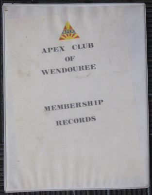 Apex Club of Wendouree - Membership records; 2013.0742