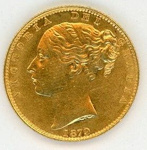 Coin, Sovereign, 1879; Royal Australian Mint; 1879; 76.0037