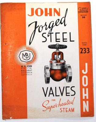 John Forged Steel Valves.; Ramsay Publishing; 78.2942
