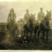 Photograph, Three Military Gentlemen on horses with a dog; 83.4601
