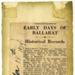 Newspaper cutting, Early Days of Ballarat; 78.2785