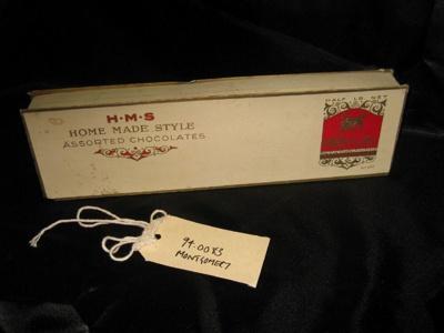 Chocolate Box, cream red & white chocolate box nestle's..