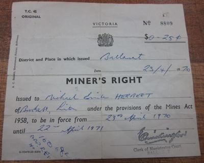 Miner's Right; 1970; 10.0595