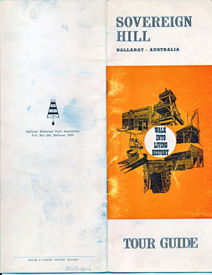 Sovereign Hill Publicity Material; 1970-1980; 2015.0610
